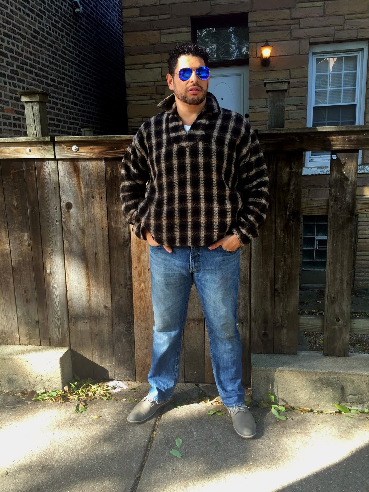 Big And Tall Patio Furniture: {What He Wore} Big & Tall Baja Pullover Jacket + Gap Jeans
