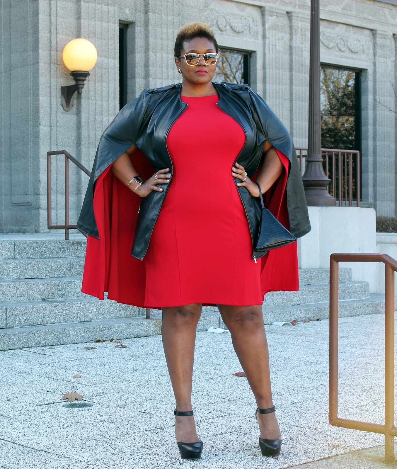 What I Wore Layered Capes Curvatude