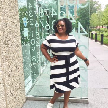 {What I Wore} Flouncing Around in Black & White Stripes