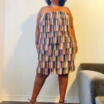 {What I Wore} Fringe Strapless Dress
