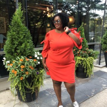 {What I Wore} The Perfect Orange Shift Dress