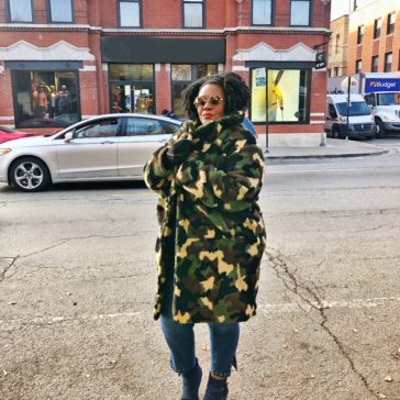 {What I Wore} Camouflage Teddy Bear Coat